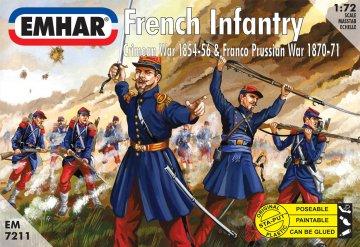 French Infantry Crimean War 1854-56 & Franco Prussian War 1870-71 · EM 7211 ·  Emhar · 1:72