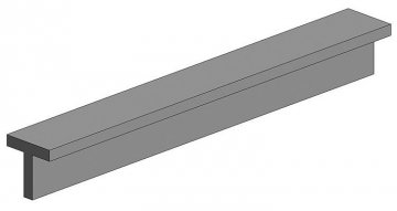 T-Profil, 35 mm lang, Höhe/Breite 1,4 mm, 4 Stück · EV 0762 ·  Evergreen