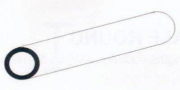 Rundröhre aus weißem Polystyrol, 35 cm lang, Durchmesser 3,2 mm - 1/8, 5 Stück · EV 500224 ·  Evergreen