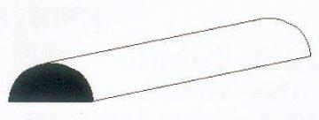 Halbrundstange aus Polystyrol, 35 cm lang, Durchmesser 2,5 mm, 3 Stück · EV 500243 ·  Evergreen