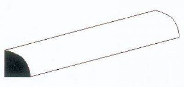 Viertelrundstange aus Polystyrol, 35 cm lang, Durchmesser 1,50 mm, 4 Stück · EV 500248 ·  Evergreen