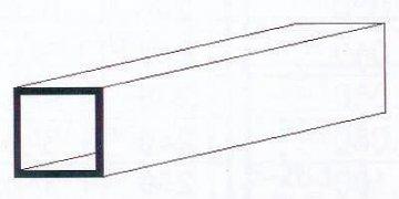 Quadratrohr, 35 cm lang, 3,2 mm Kantenl.-1/8. 3 Stück · EV 500252 ·  Evergreen