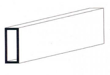 Rechteckrohr, 350x3,2x6,3 mm,3Stück · EV 500257 ·  Evergreen