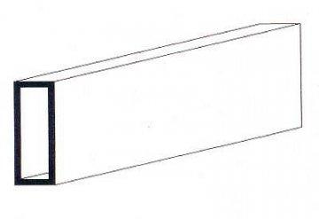 Rechteckrohr aus weißem Polystyrol, 350x4,8x7,9 mm, 2 Stück · EV 500258 ·  Evergreen
