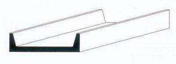 U-Profil aus weißem Polystyrol, 350x3,2x1,2 mm - 1/8, 4 Stück · EV 500264 ·  Evergreen