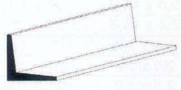 Winkelprofil aus weißem Polystyrol, 350x1,5x1,5 mm, 4 Stück · EV 500291 ·  Evergreen