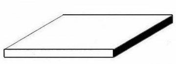 Kunststoffplatte aus weißem Polystyrol, 1x150x300 mm, Nutbreite 2,7 mm, 1 Stück · EV 504109 ·  Evergreen