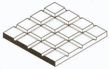 Gehwegplatten aus weißem Polystyrol, 1x150x300 mm, Raster 1,6 mm, 1 Stück · EV 504501 ·  Evergreen