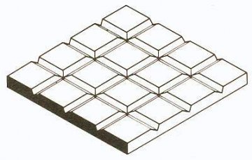 Gehwegplatten , 1x150x300 mm.Raster 12,7x12,7 mm, 1 Stück · EV 504518 ·  Evergreen