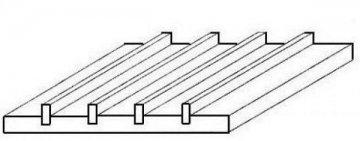 Wellblech gefalzt, 1x150x300 mm, Raster 6,30 mm, 1 Stück · EV 504522 ·  Evergreen