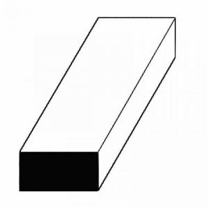 Maßstab 1:87: Leisten aus weißem Polystyrol, 350x0,3x1,1 mm, 10 Stück · EV 508104 ·  Evergreen