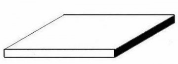 Weiße Polystyrolplatte, 200x530x0,50 mm, 6 Stück · EV 509103 ·  Evergreen