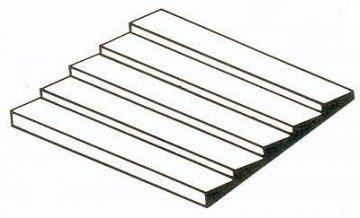 Bretter-Verschalung aus weißem Polystyrol, 300x600x1,0 mm, Raster 1,30 mm,  1 Stück · EV 514051 ·  Evergreen