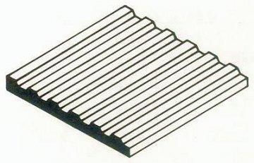 Trapezblech aus weißen Polystyrol, 300x600x1,0 mm, Raster 1,00 mm, 1 Stück · EV 514526 ·  Evergreen