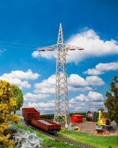 2 Bahnstrommasten · FAL 120377 ·  Faller · H0