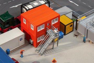 4 Baucontainer, orange · FAL 130135 ·  Faller · H0