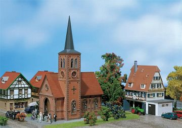 Kleinstadt-Kirche · FAL 130239 ·  Faller · H0