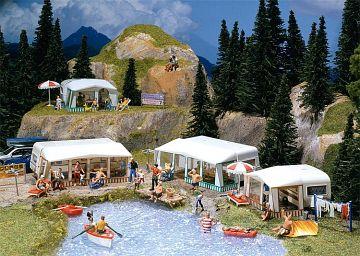 Camping-Wohnwagen-Set · FAL 130503 ·  Faller · H0