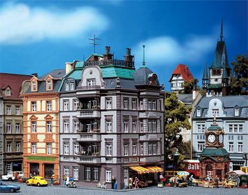 Stadt-Endhaus Goethestrasse 88 · FAL 130918 ·  Faller · H0