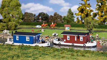 2 Hausboote · FAL 131008 ·  Faller · H0
