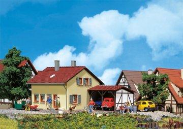 Siedlerhaus mit Anbau · FAL 131358 ·  Faller · H0