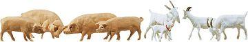 8 Ziegen + 7 Schweine · FAL 154008 ·  Faller · H0