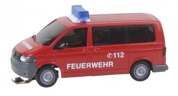 VW T5 Feuerwehr (WIKING) mit Blinkelektronik · FAL 161563 ·  Faller · H0