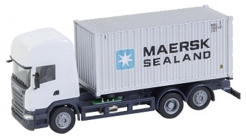 LKW Scania R 13 TL Seecontainer · FAL 161598 ·  Faller · H0