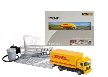 Car System Start-Set DHL MAN · FAL 161607 ·  Faller · H0