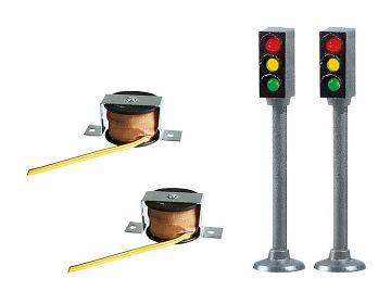 2 Ampeln ohne Schaltgerät · FAL 161656 ·  Faller · H0