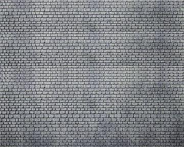 Dekorplatte, Läufermauerwerk Quader, grau · FAL 170805 ·  Faller · H0