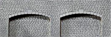 Dekorplatte Arkaden, Naturstein-Quader · FAL 170835 ·  Faller · H0