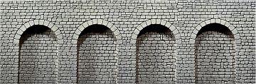 Dekorplatte Arkaden, Naturstein-Quader · FAL 170838 ·  Faller · H0