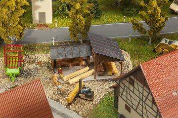 Holzlagerschuppen · FAL 180498 ·  Faller · H0