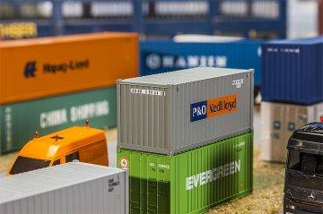 20´ Container P&O Nedlloyd · FAL 180824 ·  Faller · H0