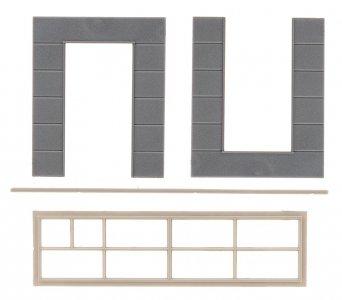 2 Wandelemente mit hohen Fenstern - Goldbeck · FAL 180883 ·  Faller · H0