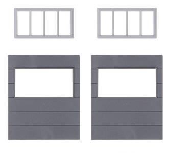 2 Wandelemente mit horizontalen Fenstern, Goldbeck · FAL 180891 ·  Faller · H0