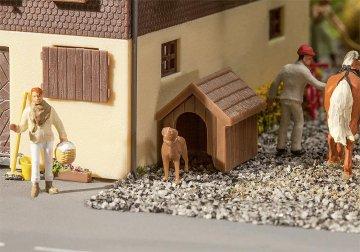Hundehütte mit Hund · FAL 180939 ·  Faller · H0