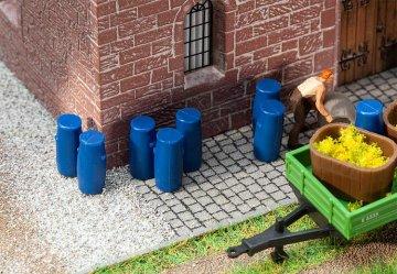 9 Plastikfässer · FAL 180970 ·  Faller · H0