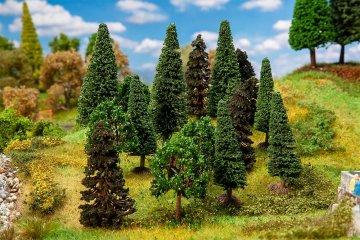 15 Mischwaldbäume, sortiert · FAL 181529 ·  Faller · H0