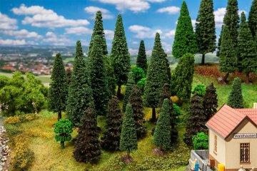 30 Mischwaldbäume, sortiert · FAL 181530 ·  Faller · H0