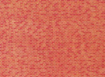 Mauerplatte, Backstein · FAL 222568 ·  Faller · N