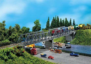 2 Kastenbrücken mit Brückenköpfen · FAL 222578 ·  Faller · N