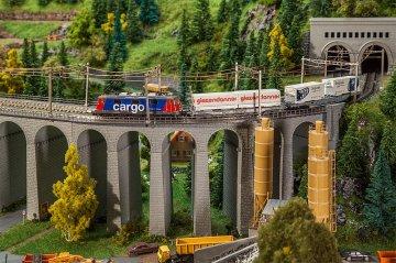 Viadukt-Set, 2-gleisig, gebogen · FAL 222598 ·  Faller · N