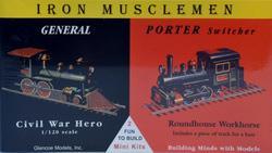 Lokomotiven General und Porter Switcher · GLE 3603 ·  Glencoe Models · 1:120