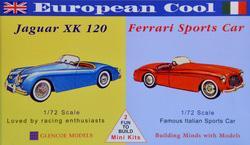 Jaguar XK120 &  Ferrari · GLE 3604 ·  Glencoe Models · 1:72