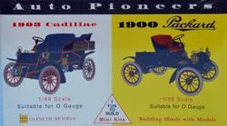 1903er Cadillac 1/48 - 1900er Packard 1/50 · GLE 3605 ·  Glencoe Models