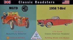MG TD - 1958er T-Bird · GLE 3606 ·  Glencoe Models · 1:72