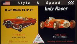 Le Sabre 1/72 - Indy Racer 1/50 · GLE 3608 ·  Glencoe Models