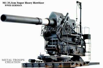 M1 35,5cm schweres Geschütz WWII · G2B MT35002 ·  Glow2B · 1:35